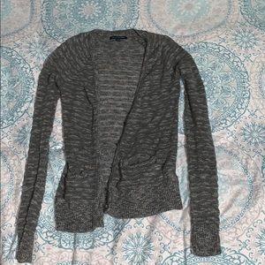 american eagle grey cardigan size xxs